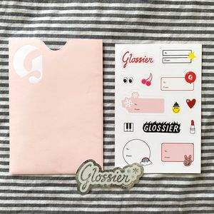 Glossier Winter Holiday Christmas Gift Stickers